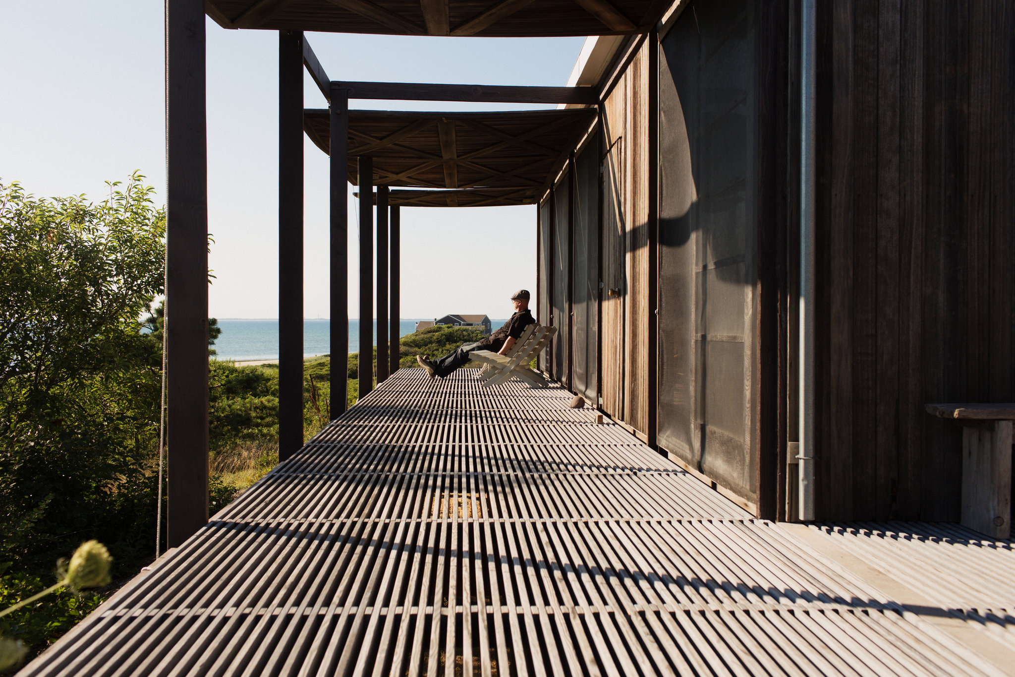 """""""Hatch House"""" in Wellfleet, is a modern house you can rent. Photo credit to NYTimes"""