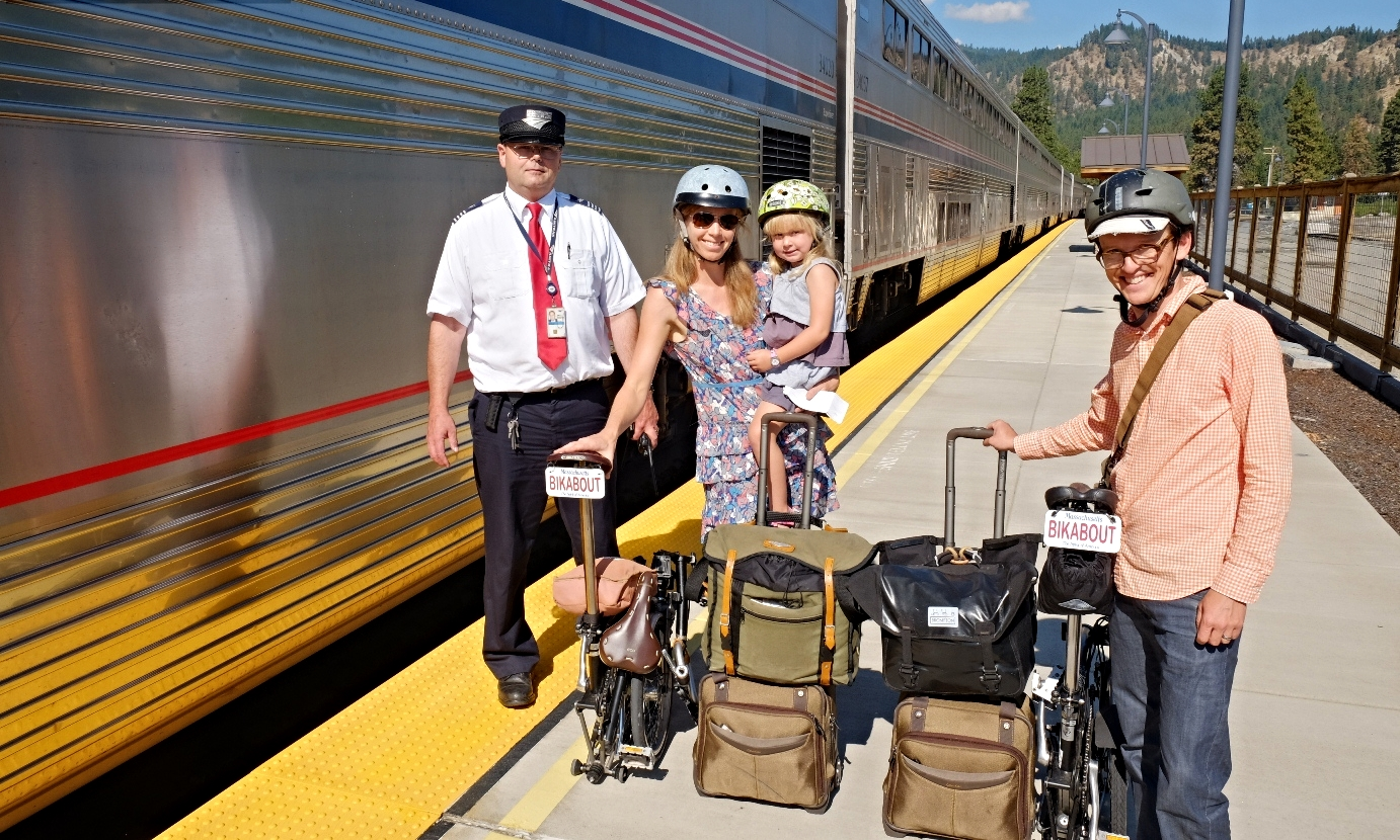 Boarding the Empire Builder in Leavenworth, WA.