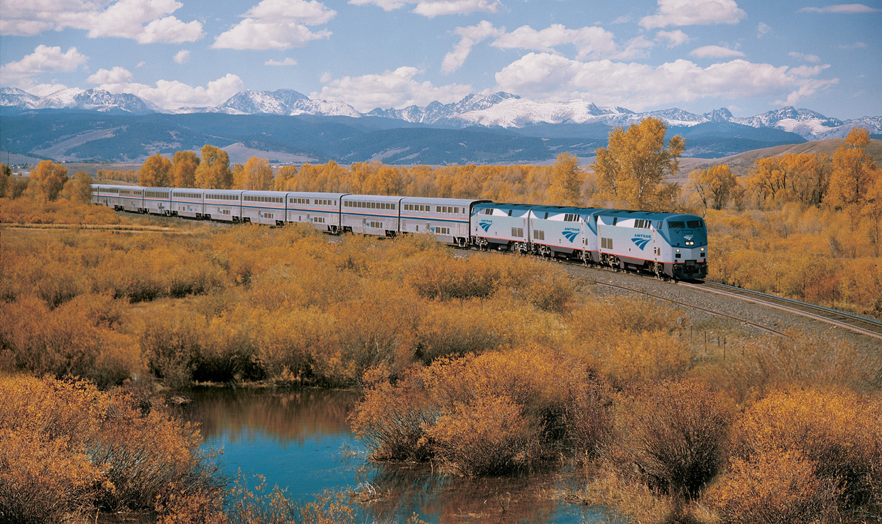 California Zephyr is one of the most scenic train trips. Click image for Amtrak's blog to see the other four!