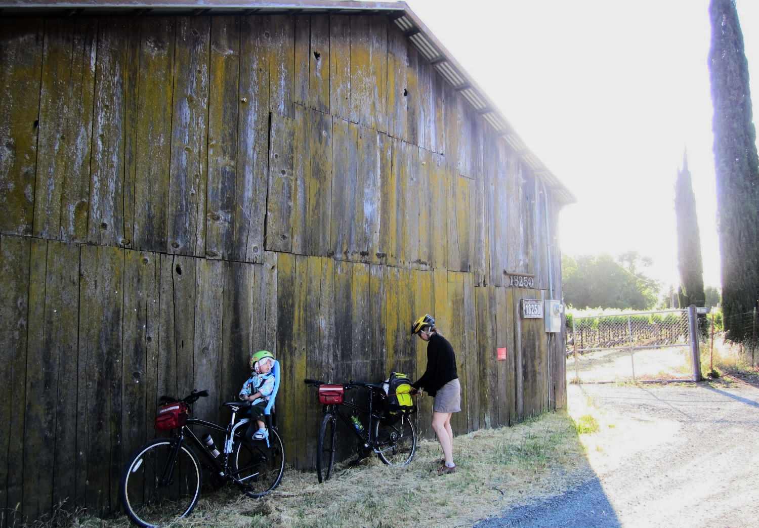 Rest stop on the Bikabout founder's ride through Sonoma County.