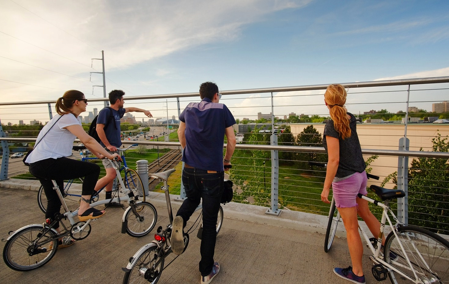 Stopping to admire views with friends and sharing experiences is a major highlight of biking in a group.