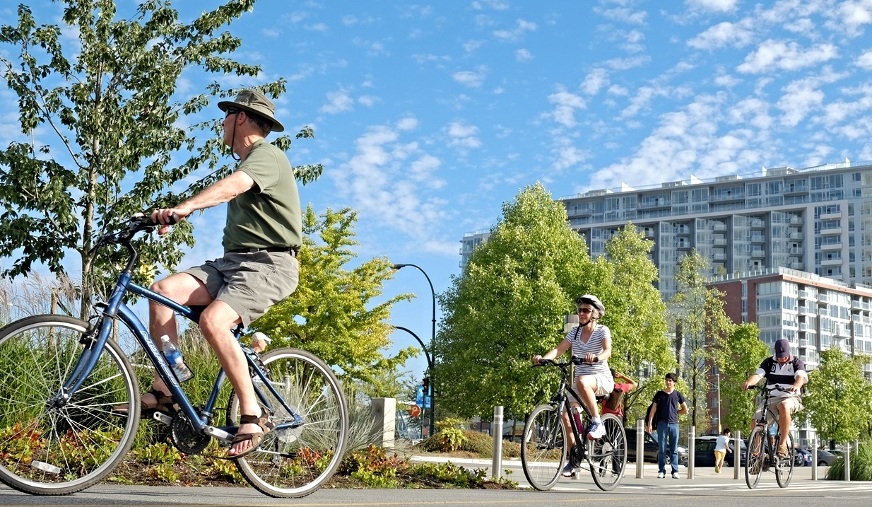 All ages biking in normal clothing is an true indicator of a bicycle friendly and healthy community.