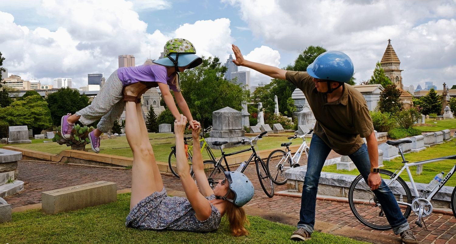 Superman high fives for the awesome power of the bike to enable well-rounded and sustainable health.