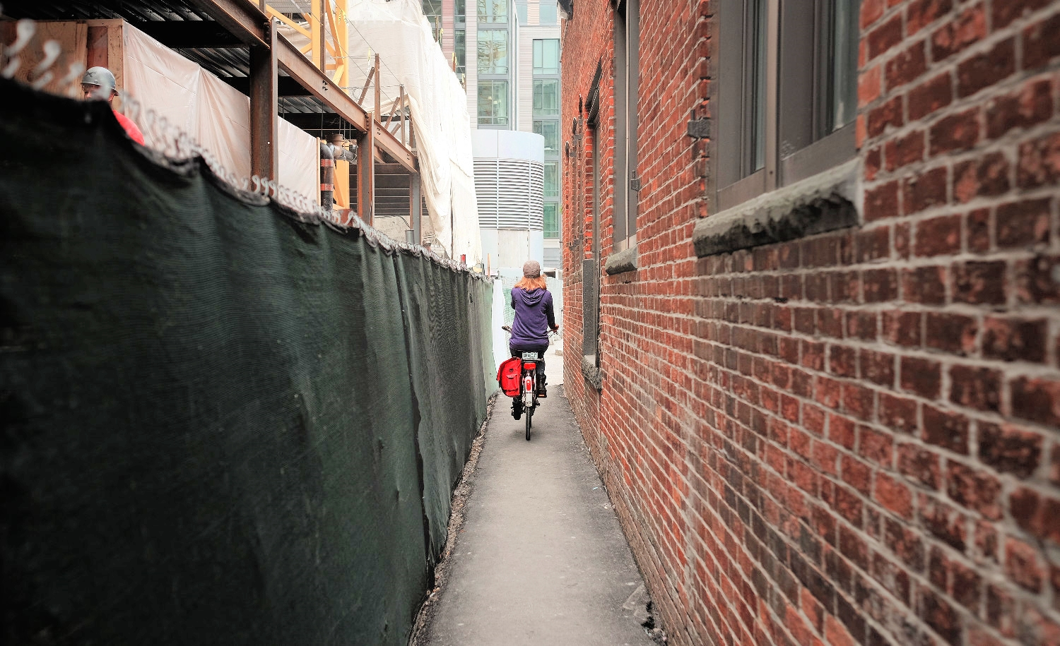 "Biking from Flour through Boston's ""innovation district"" ever changing construction zone."