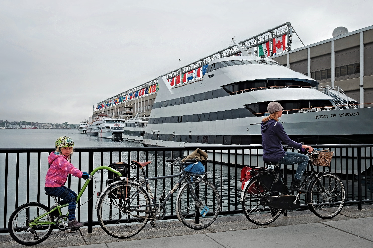 Arriving at the World Trade Center's terminal for Bay State Cruises, our ferry to Provincetown.