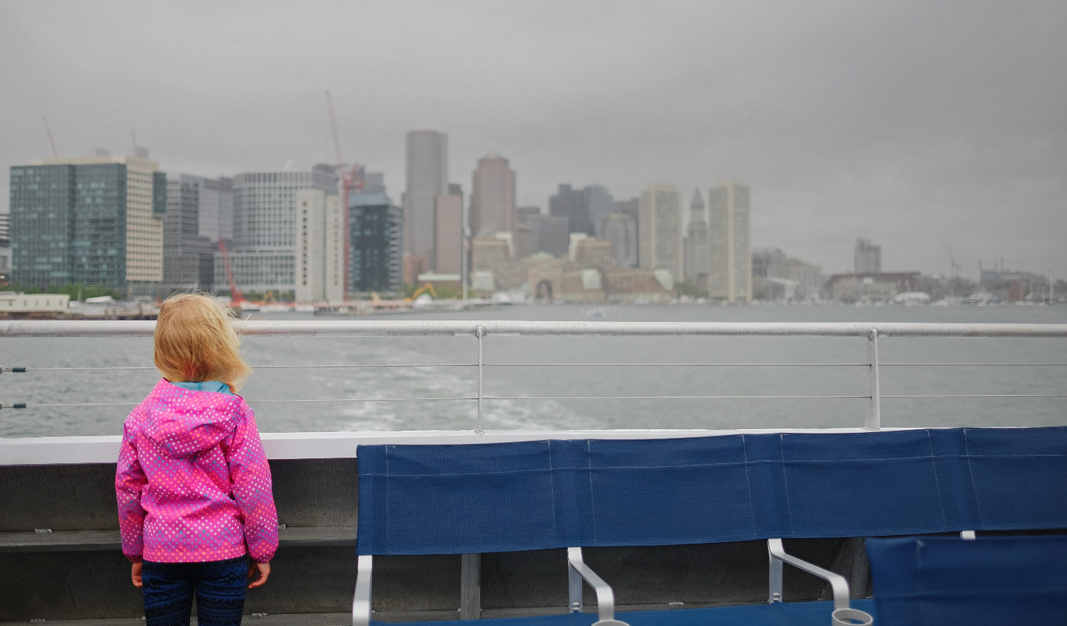 And we're off! One of the best parts of the ferry ride is watching Boston's skyline get smaller on the horizon.