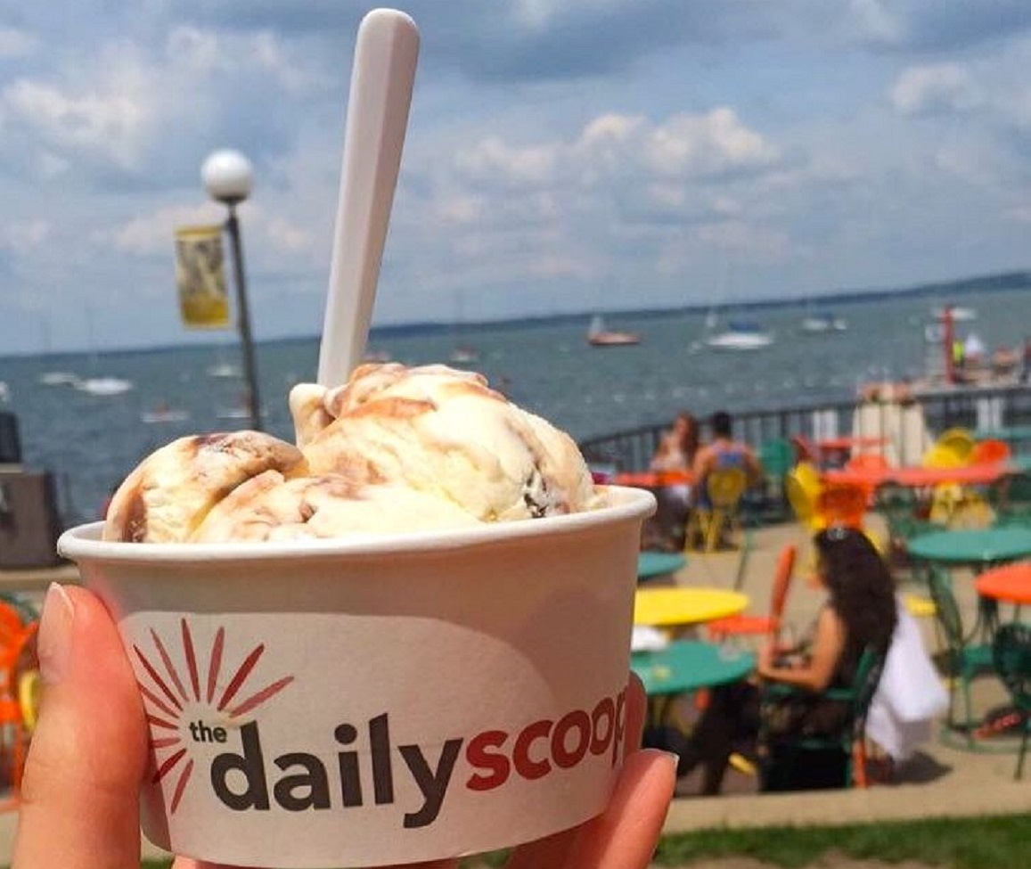 Finish off the ride with Babcock Ice Cream from Daily Scoop at the famed Union.