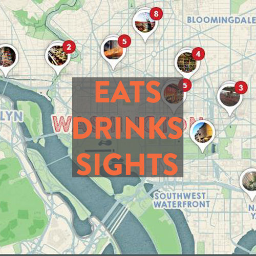 Best of Bikeable DC — bikabout Dc Landmarks Map on