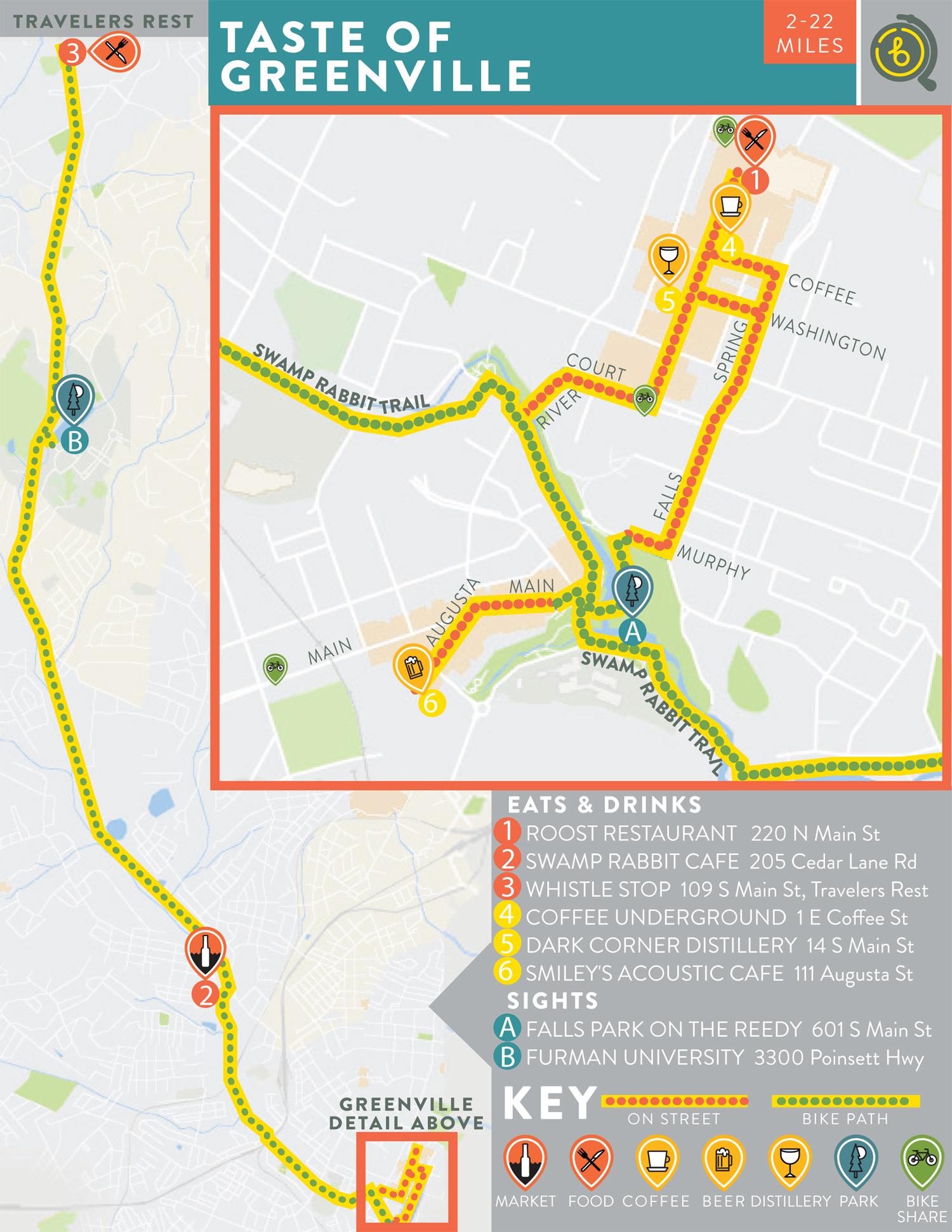 Free bike map.