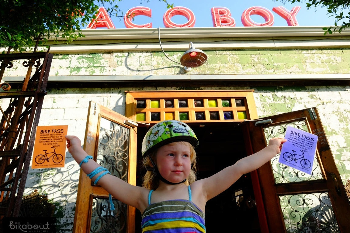 Taco Boy in Charleston, SC gives people who arrive by bike 2 for 1 Margaritas!