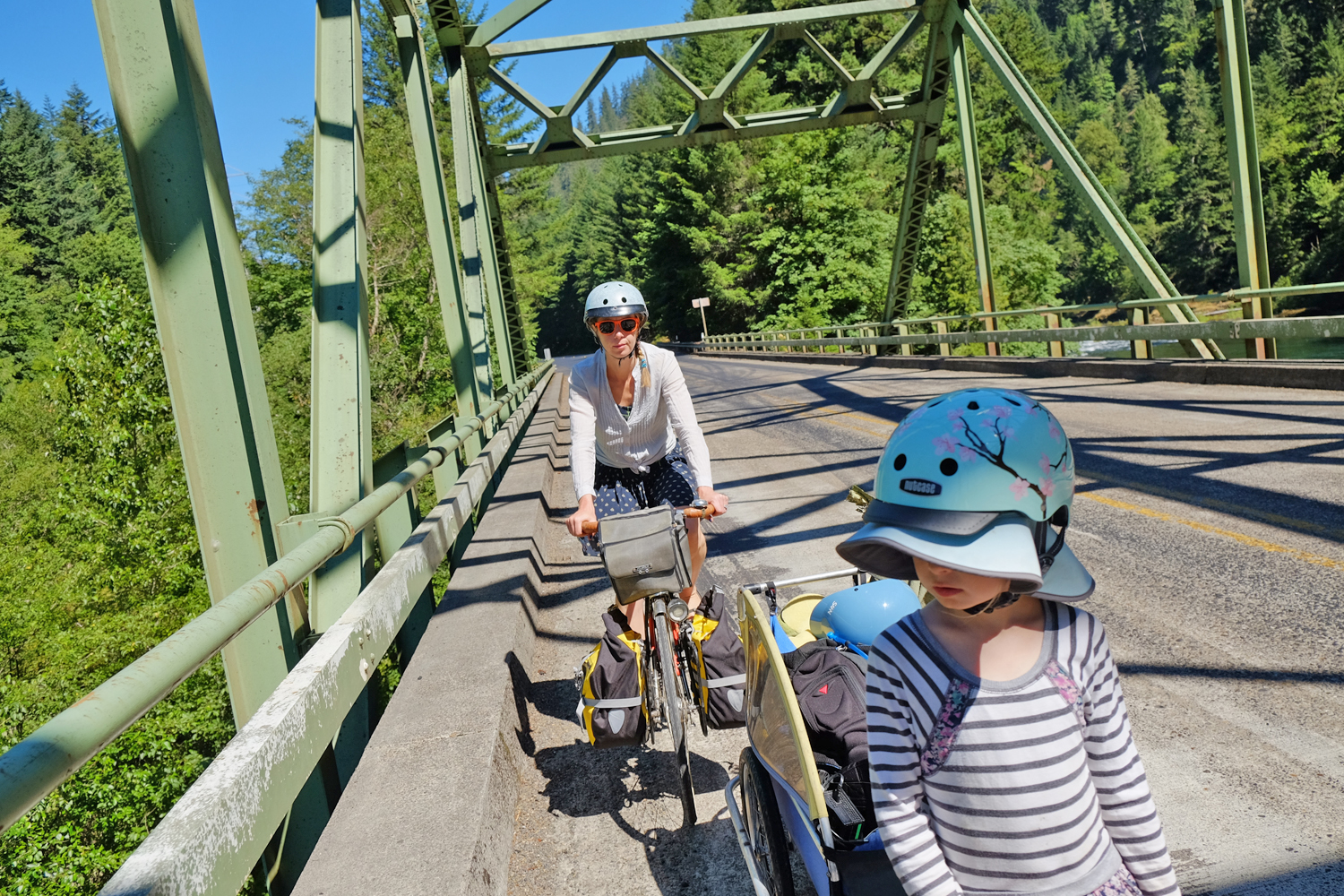 Cascading Rivers Scenic Bikeway includes many vistas from bridge crossings.