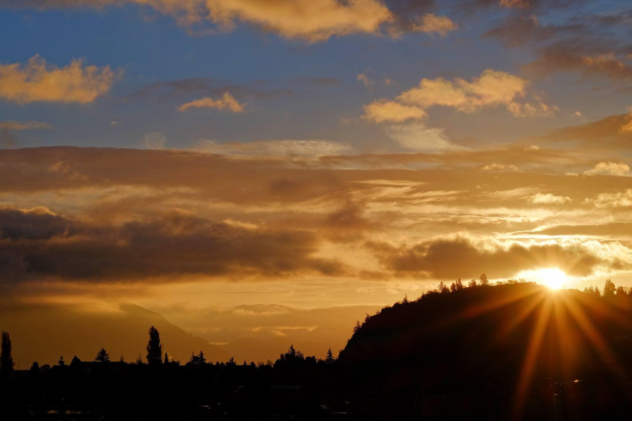 Columbia Gorge at sunrise