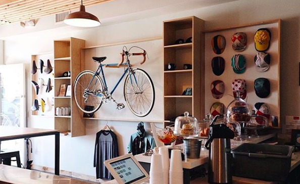 Coffee Hub and Cafe, a bike-centric eatery and espresso bar, is a project of the Sandy Hanshaw, better half of Andy, Director of Sand Diego County Bike Coalition.