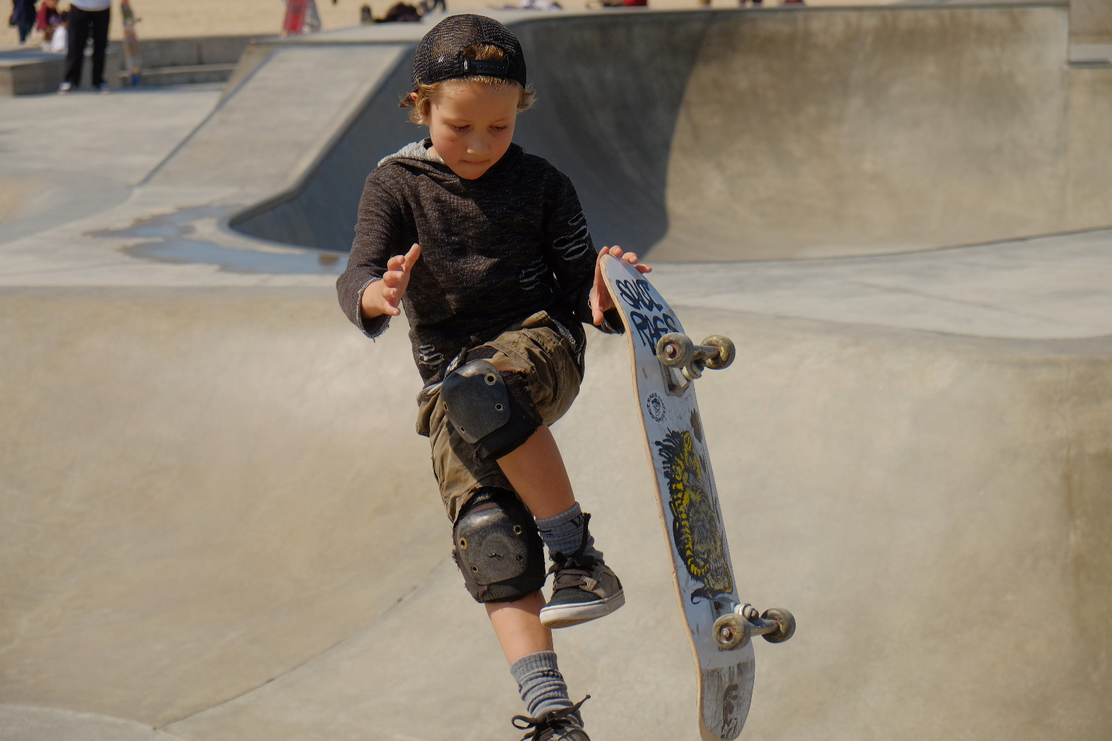 It's so much fun to watch the young and seasoned talent at the Venice Skate Park.