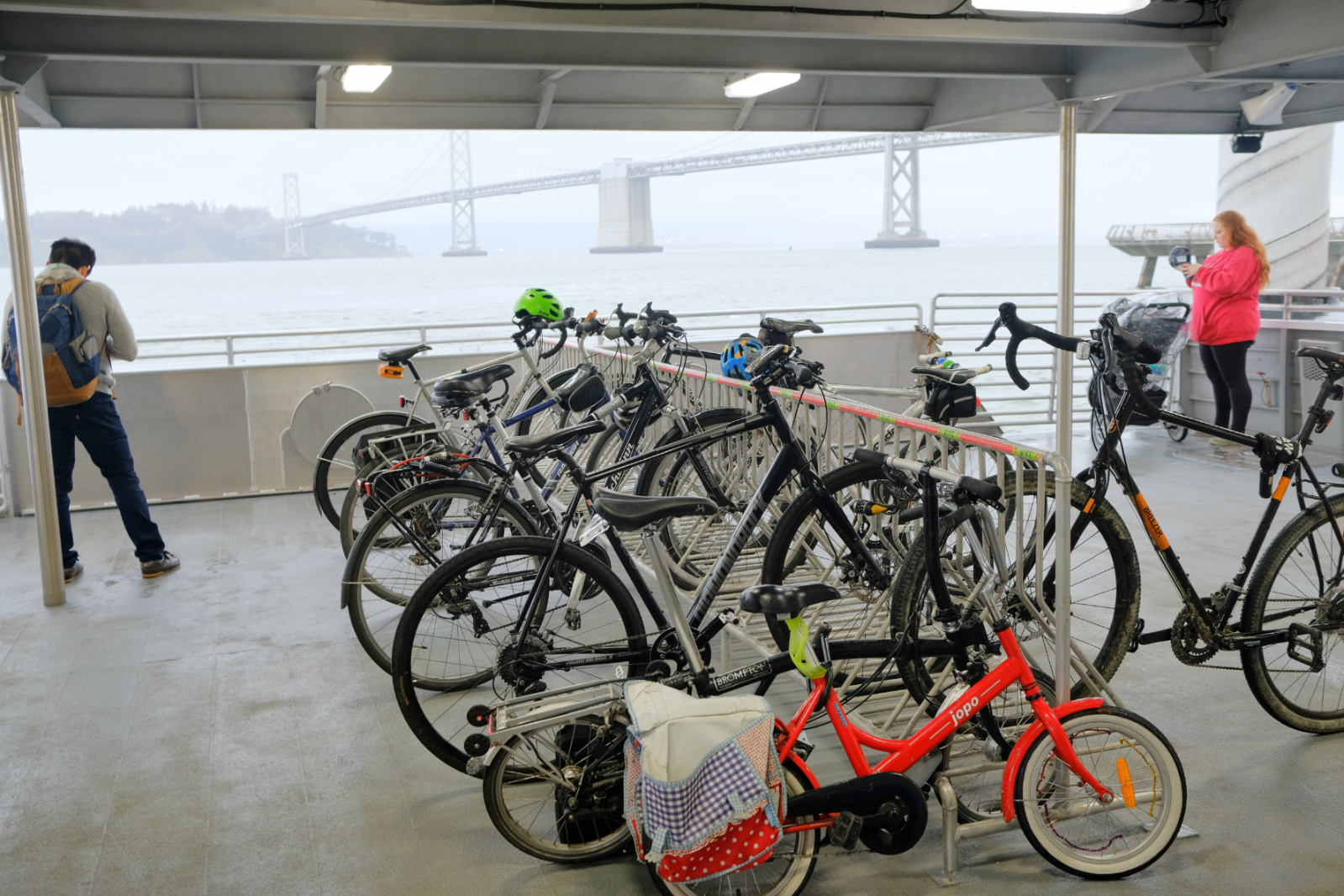San Francisco Bay Ferry offers service to Alameda, Oakland and other terminals. Photo by Kyle Ramey of Bikabout.