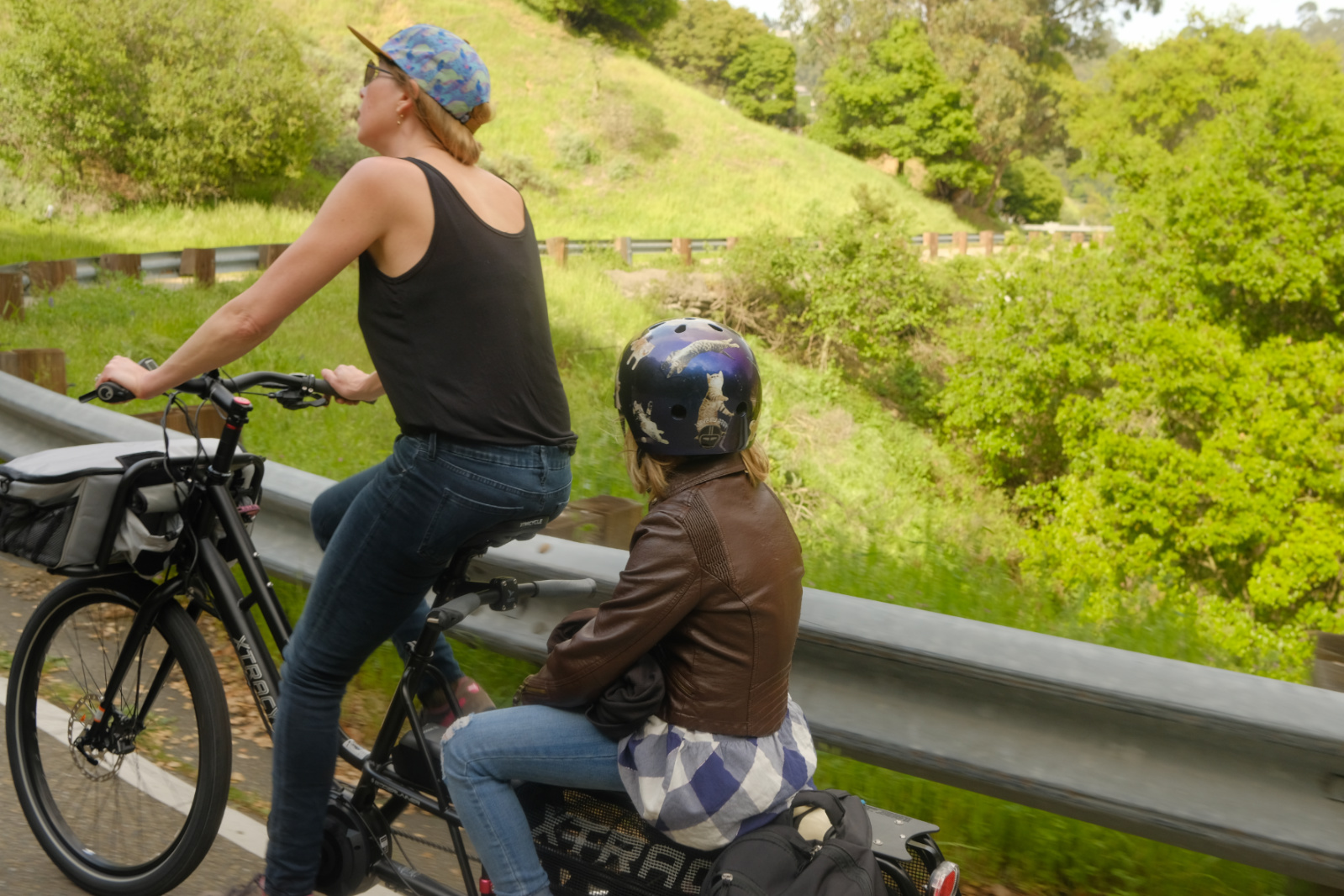 Climbing 1700 feet from Oakland to Tilden Park and then hauling picnic provisions down a gravel path to a picnic with friends. #ebikesarecheating