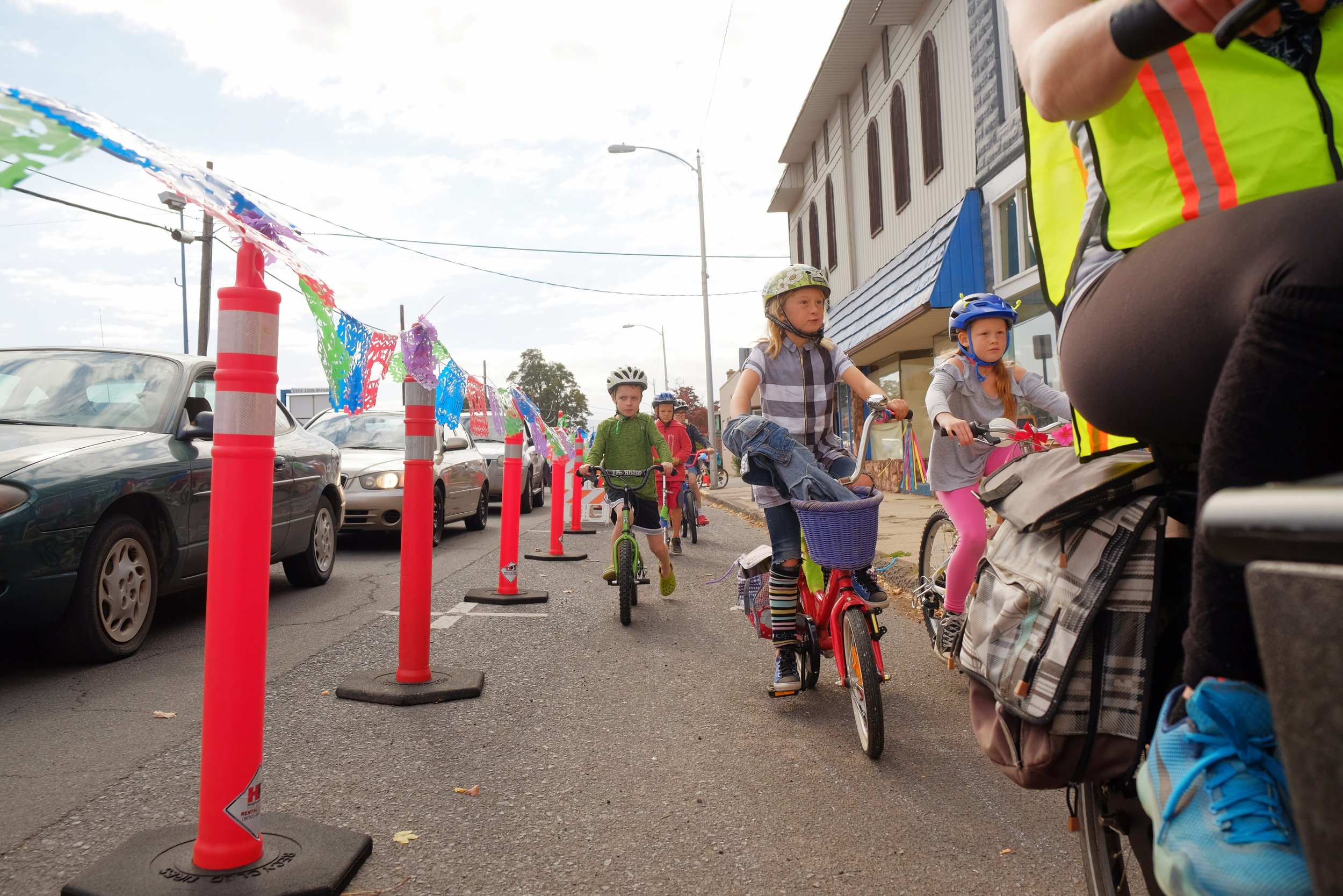 Leading the Kids' Bike Parade for Hood River's first open streets event, Streets Alive.