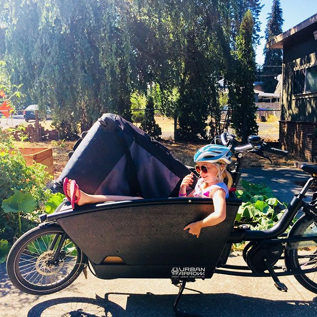 School 📚 may have started, but the weekend is here and it still feels like summer. #suplife #ecargobike . . . Tag @bikabout or #EbikesareCheating on socials and we'll share your cheating 🤫 story. Instagram link is our recent blog  showcasing all the amazing adventures and everyday life stuff that these ⚡️😀 machines have a hand in. . . #ihavethisthingwithbikes #bikeride  #wanderbybike #bikelife #biketravel #biketour #cycling #biking #cyclinglife #cyclingtour #biketourism #familytravel #travelphotography #familybikeride #babboe #ebike #electricbike #electricbikes #standuppaddleboard #standuppaddleboarding #urbanarrow #cargobike