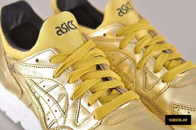 metallic gold asics