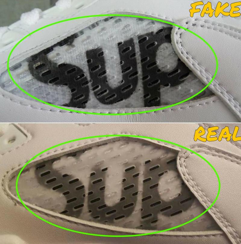 Real Vs Fake White Supreme X Air