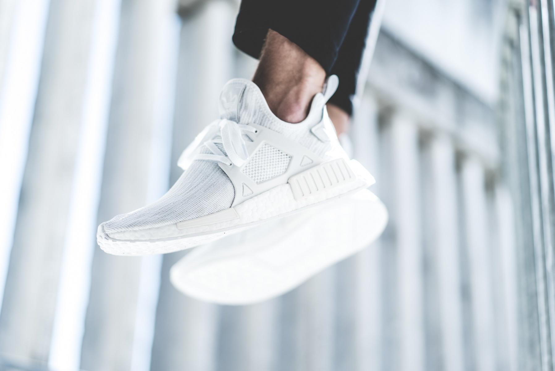 Restock Adidas Nmd Xr1 Primeknit Triple White Sneaker Shouts