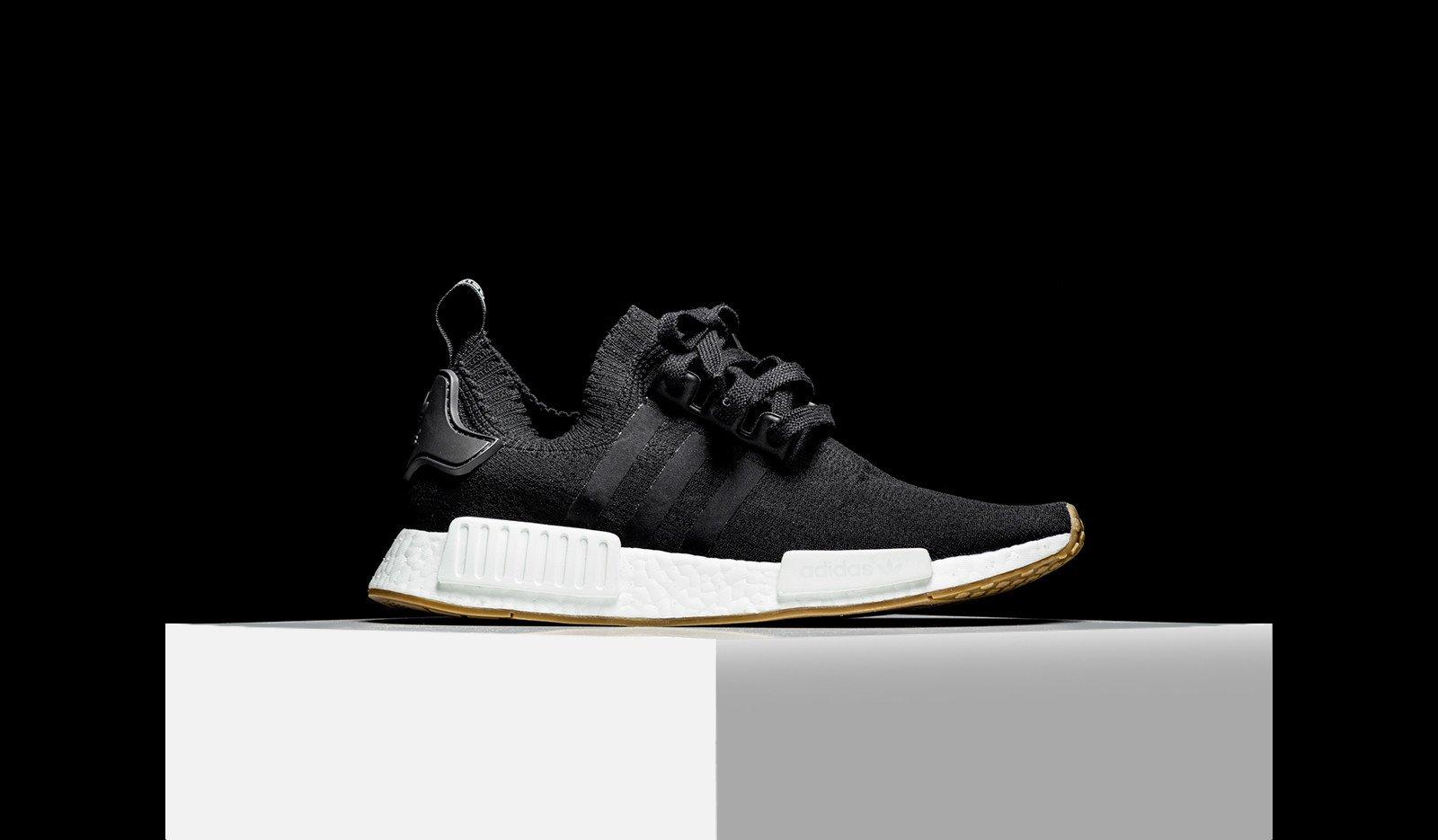 Restock Adidas Nmd R1 Primeknit Black Gum Sneaker Shouts