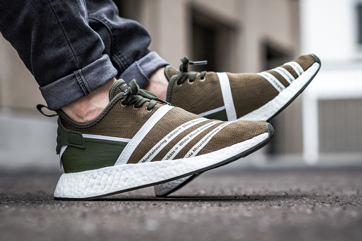 Now Available White Mountaineering X Adidas Nmd R2 Pk Olive