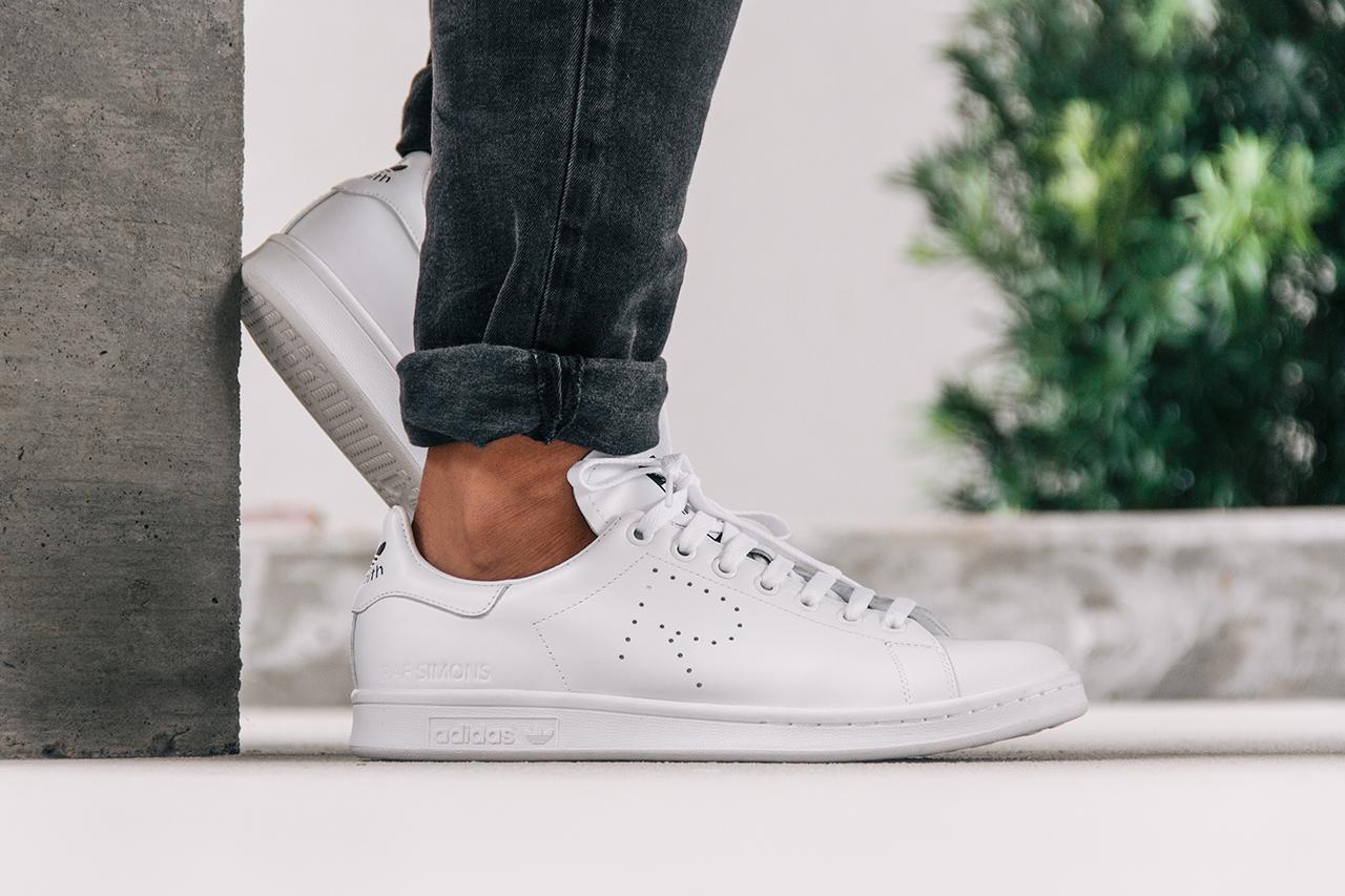raf simons adidas stan smith on feet