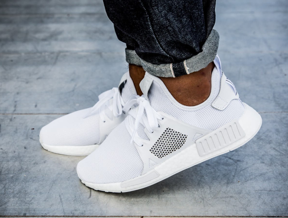 Adidas Nmd Xr1 Leather Triple White Under Retail Sneaker Shouts