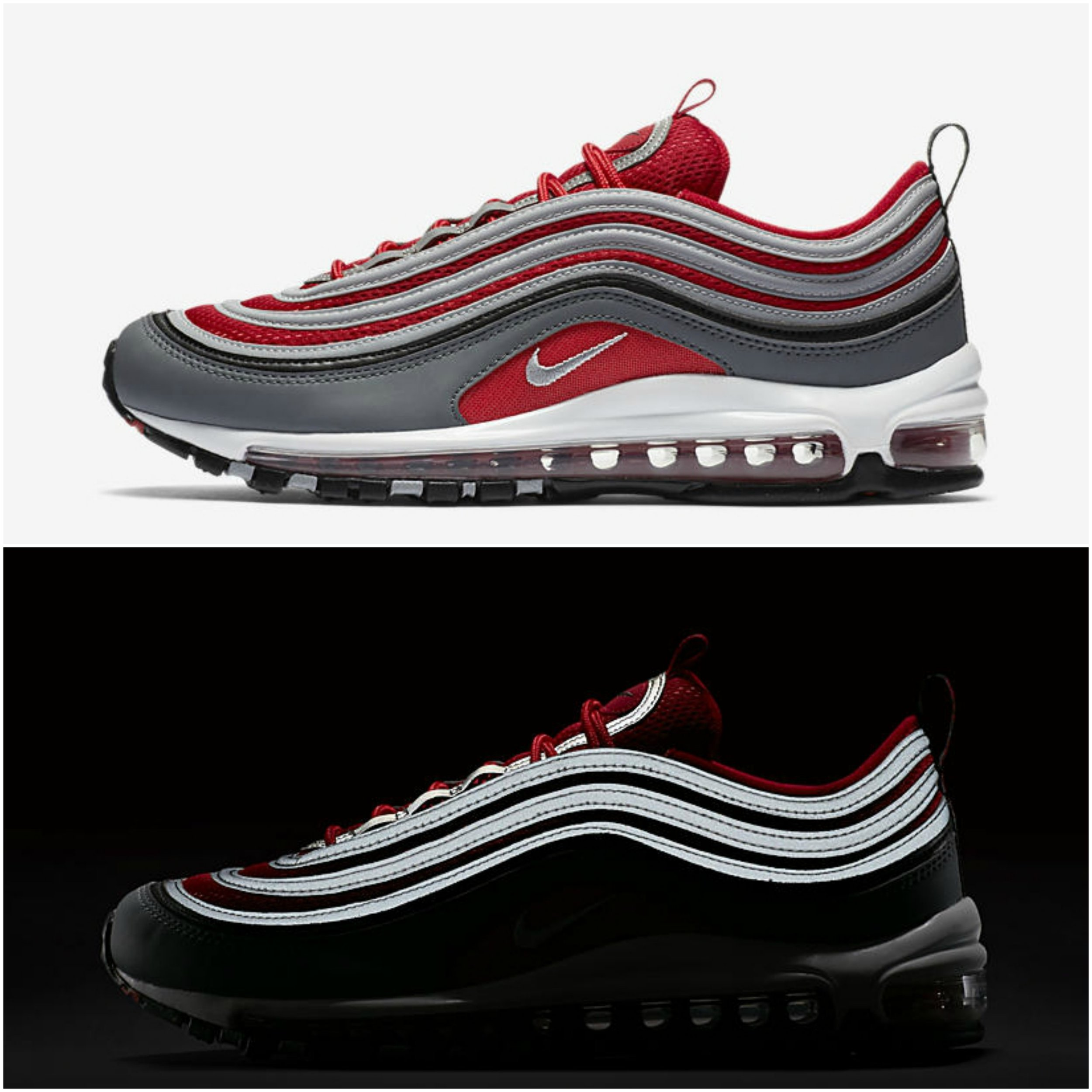 Now Available Nike Air Max 97 Grey Red Sneaker Shouts