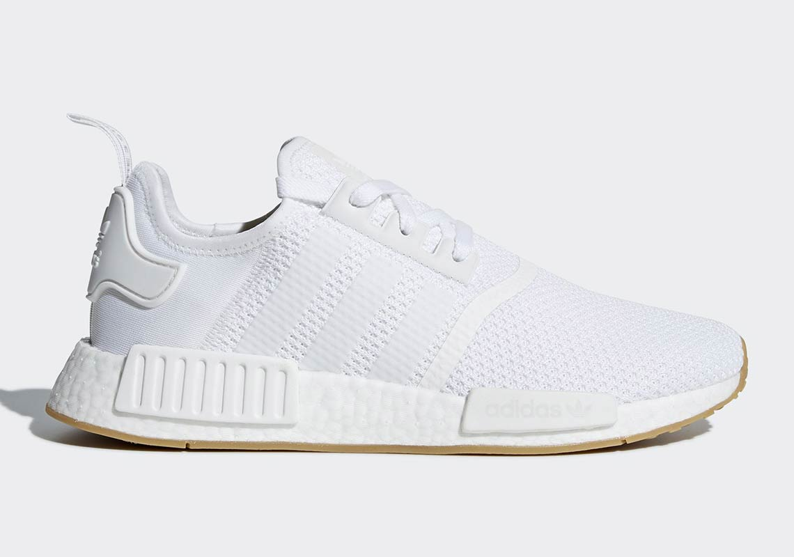 Now Available Adidas Nmd R1 White Gum Sneaker Shouts