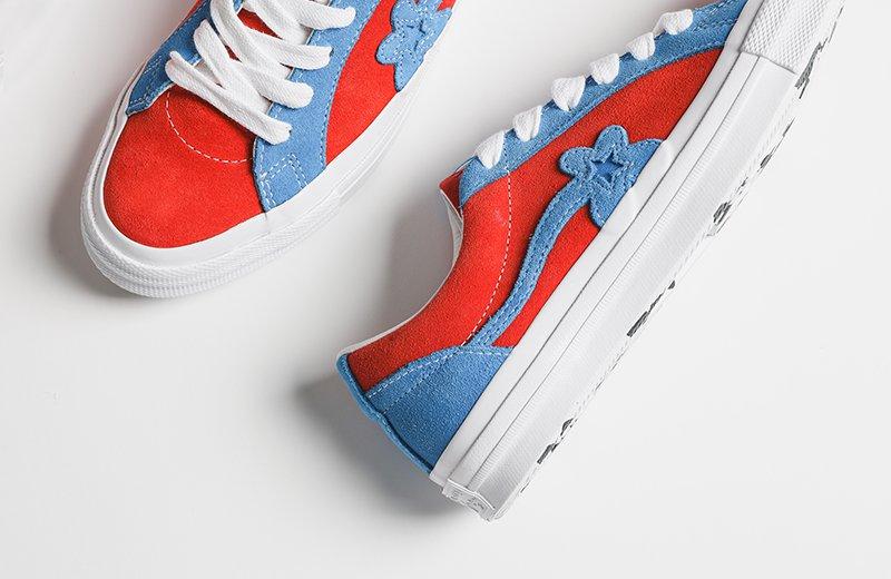 On Sale Golf Le Fleur X Converse One Star Red Sneaker Shouts
