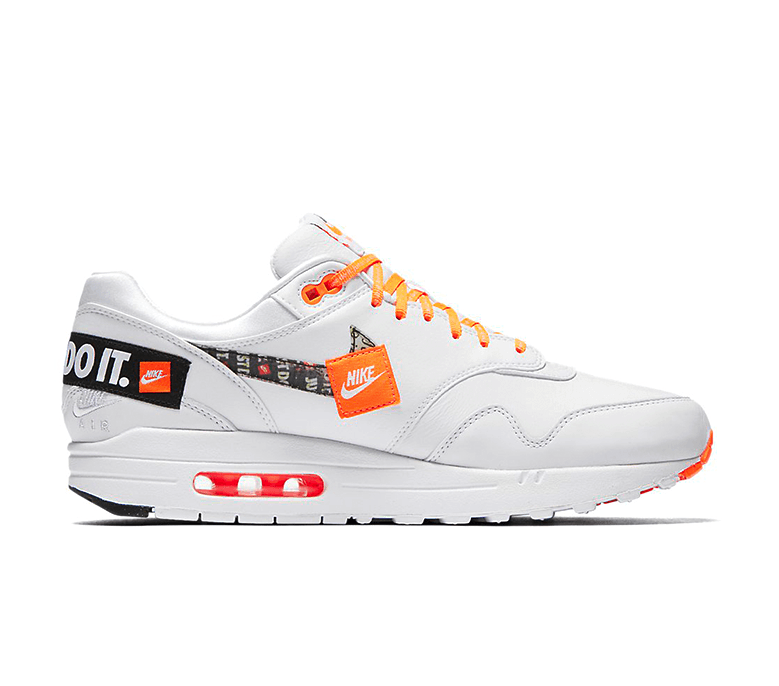 air max 1 just do it white orange