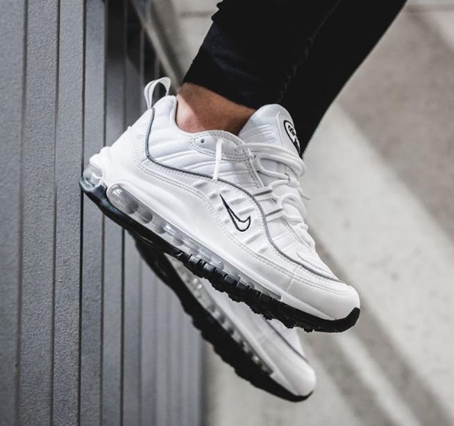 On Sale Women S Nike Air Max 98 Reflective White Sneaker Shouts