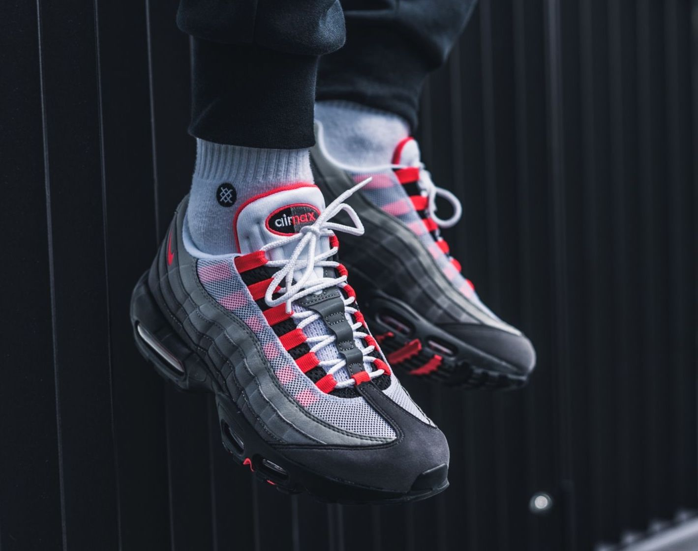 On Sale Nike Air Max 95 Og Solar Red Sneaker Shouts