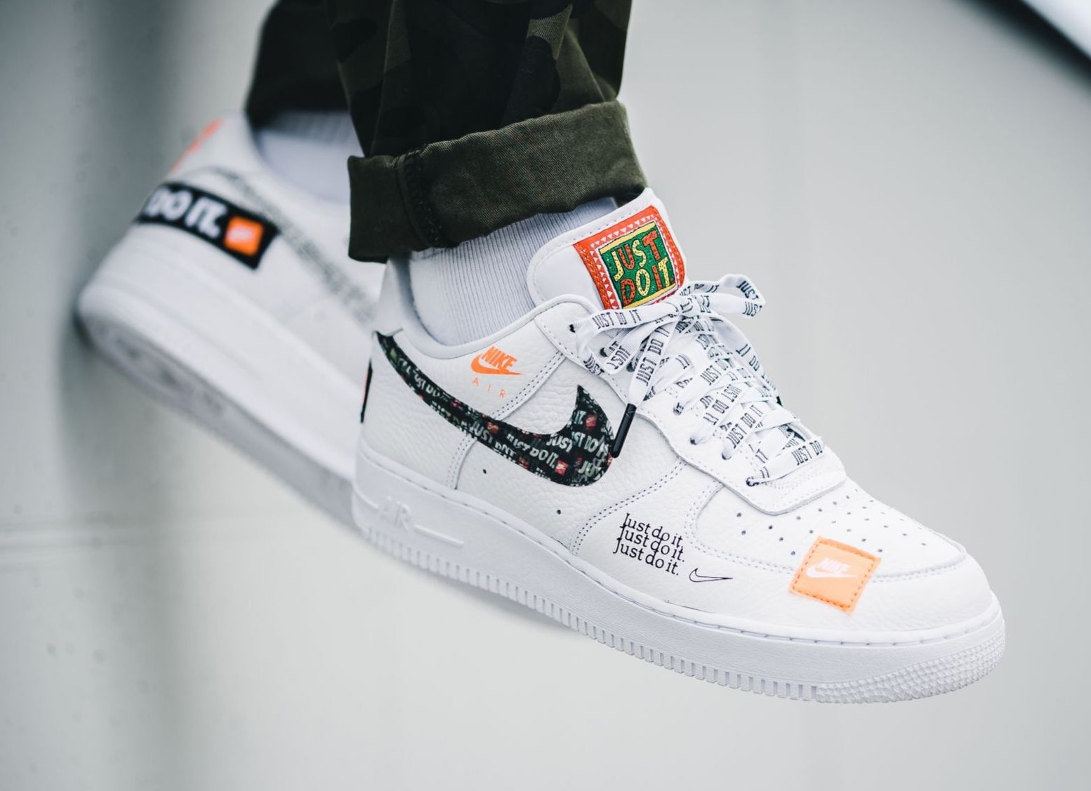 nike air force 1 low just do it white