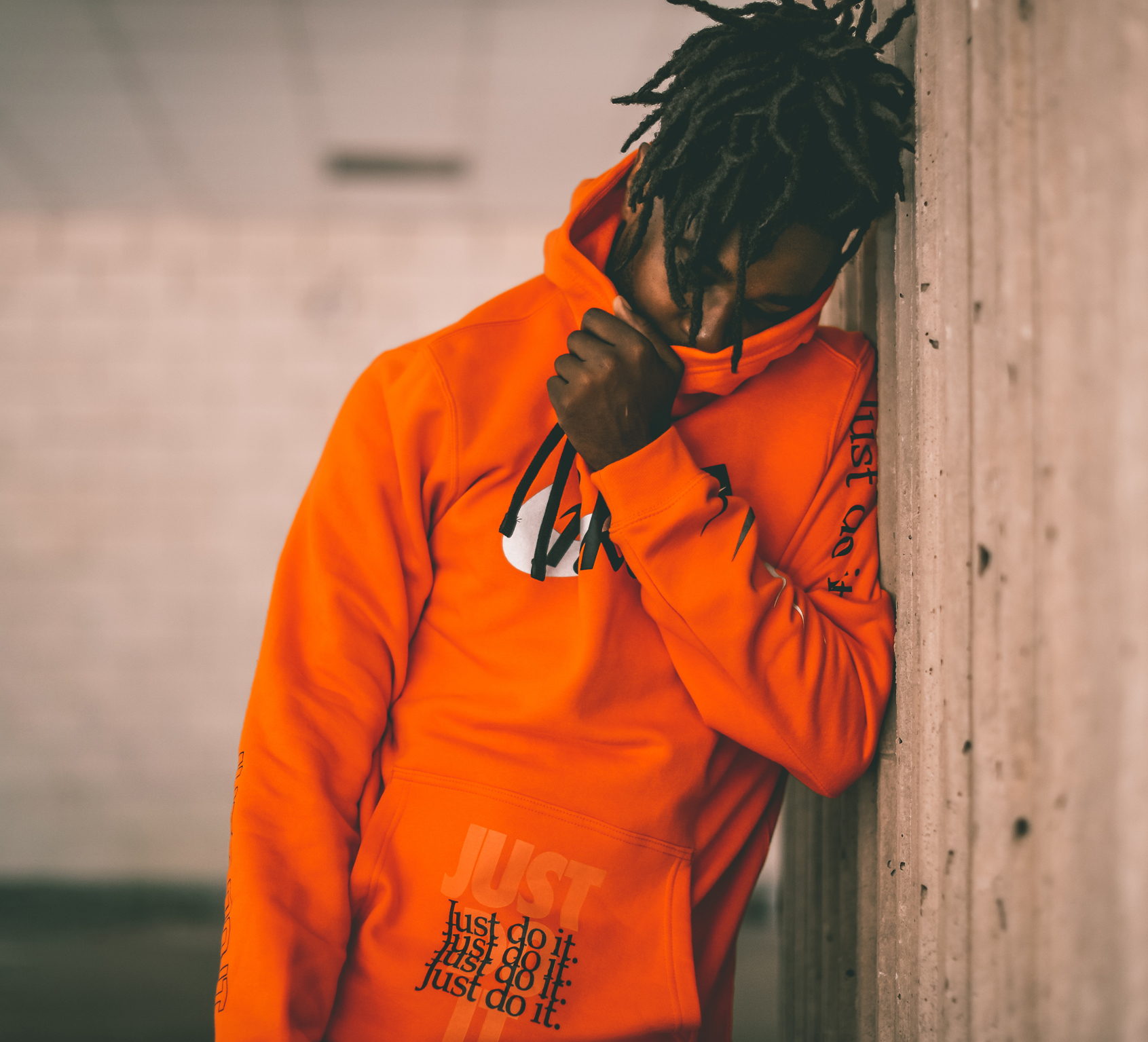 Nike Sportswear Just Do It Orange Jacket |