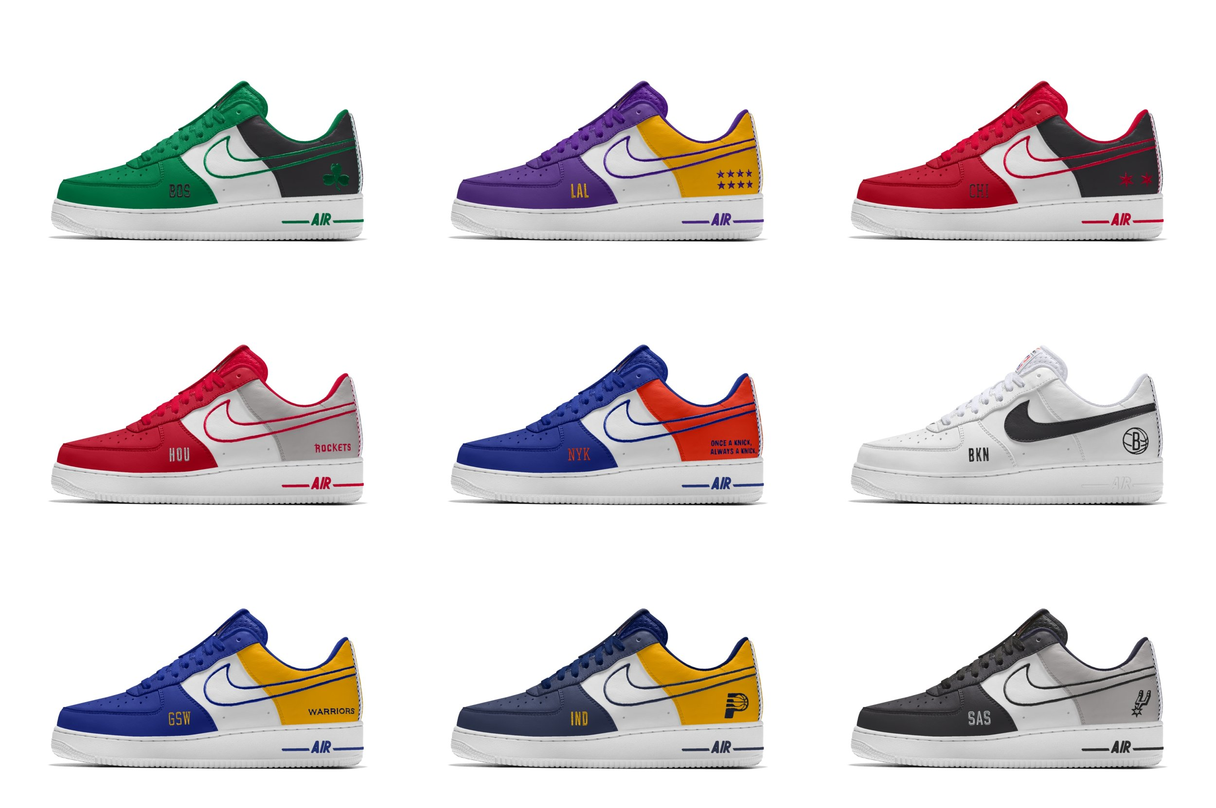 Now Available: NBA x NikeID Air Force 1 — Sneaker Shouts