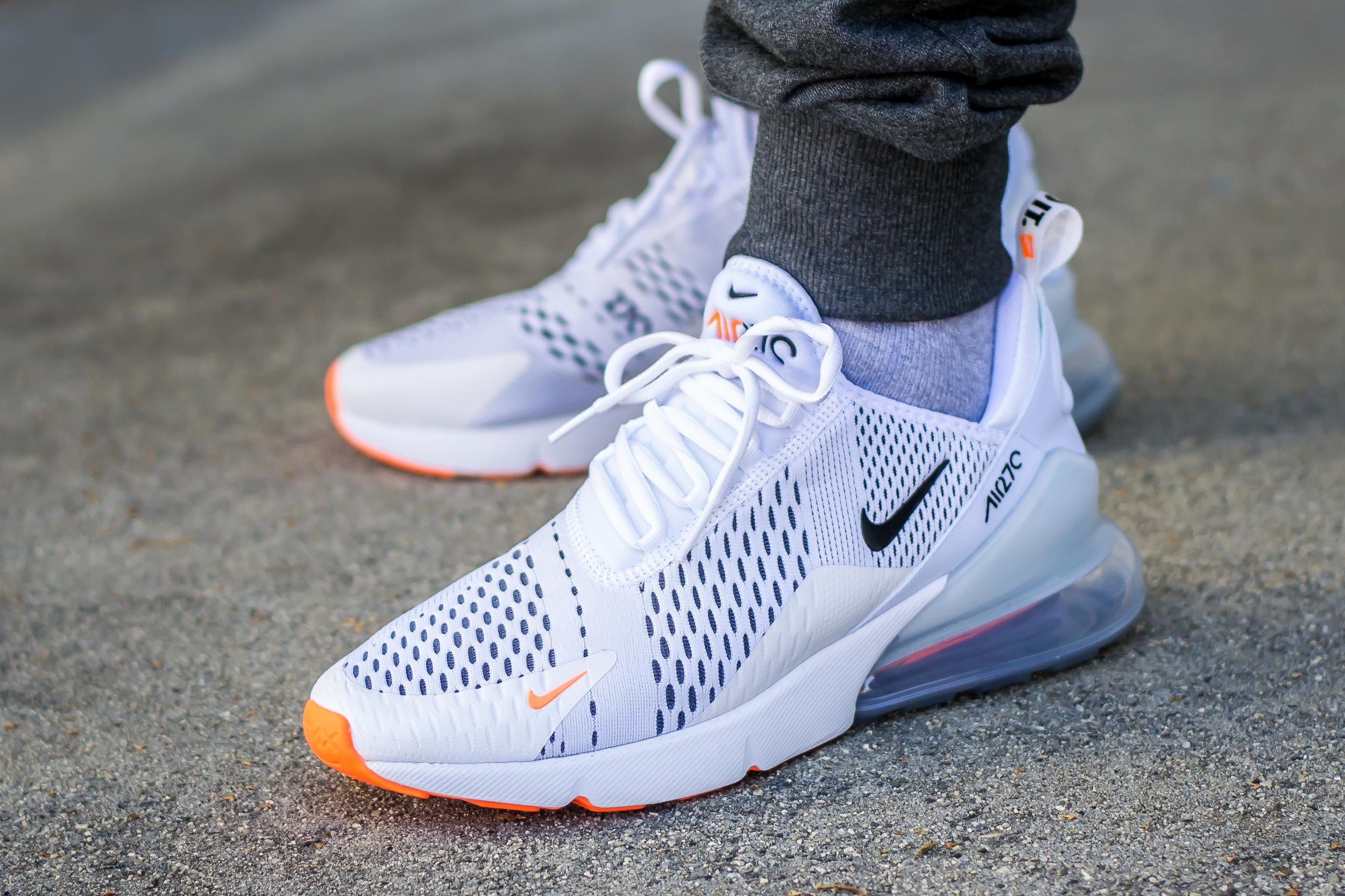 On Sale Nike Air Max 270 Just Do It White Orange Sneaker Shouts