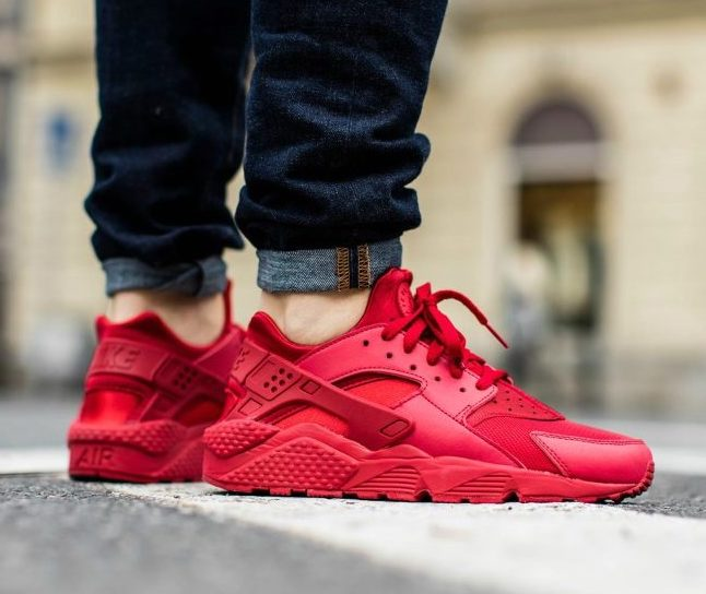 """Nike Air Huarache """"Triple Red"""": Sale Price: $67.50 (Retail $110)  – FREE SHIPPING – use code:  – CYBER25 –  at checkout"""