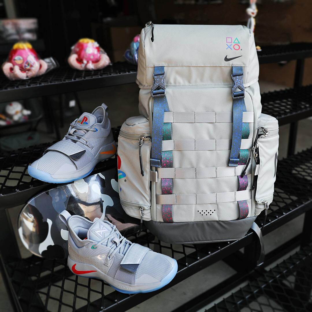 new concept 1b0df 0ce04 On Sale: Playstation x Nike PG Backpack in Cool Grey ...