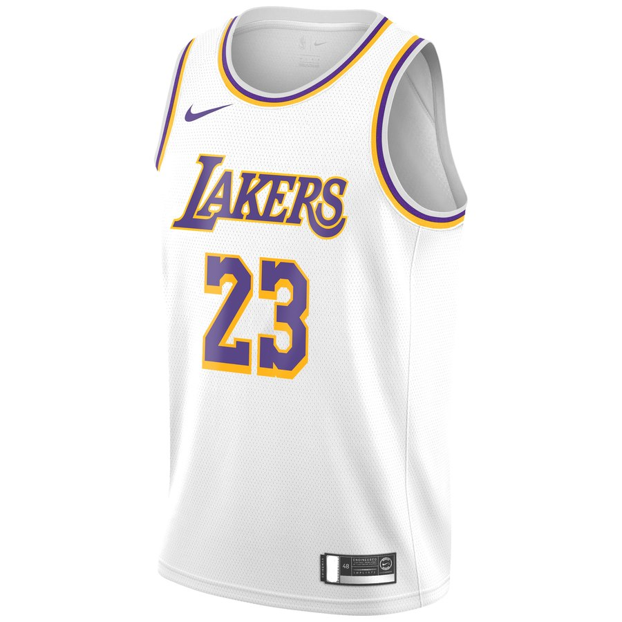 watch ac15b 840b7 On Sale: Nike NBA LeBron James Swingman Lakers Jerseys ...