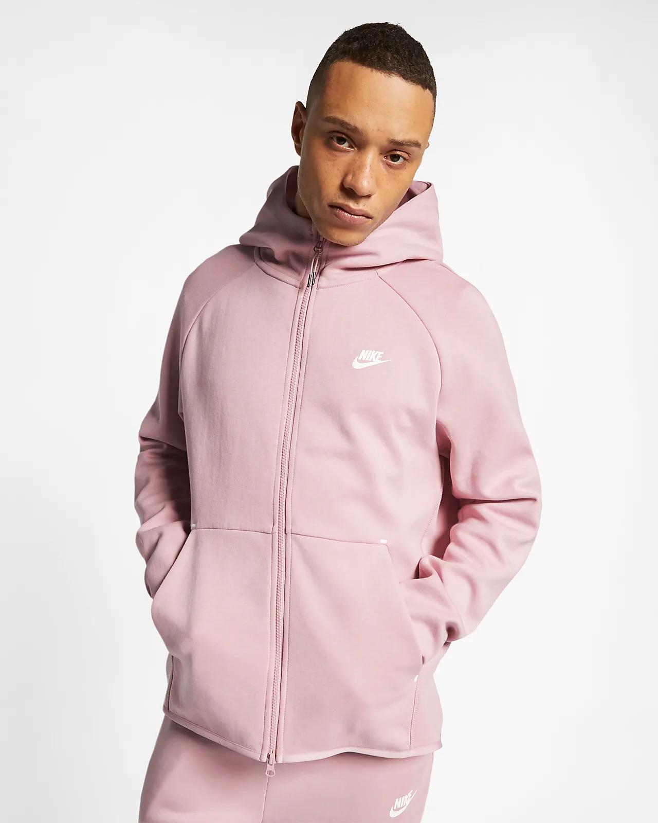 3619e6990 Now Available: Nike Sportswear Tech Fleece Zip Hoodie in Plum Chalk ...