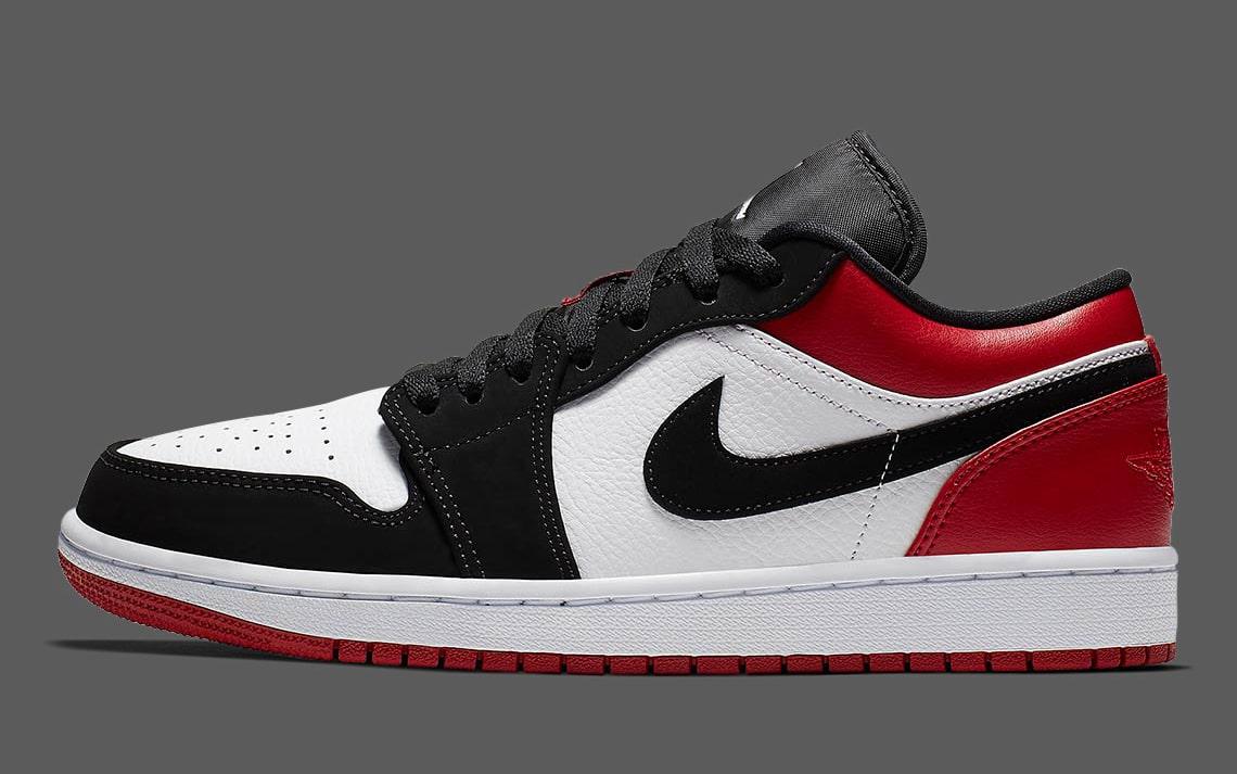 size 40 f9188 8579a air-jordan-1-low-black-toe-553558-116-