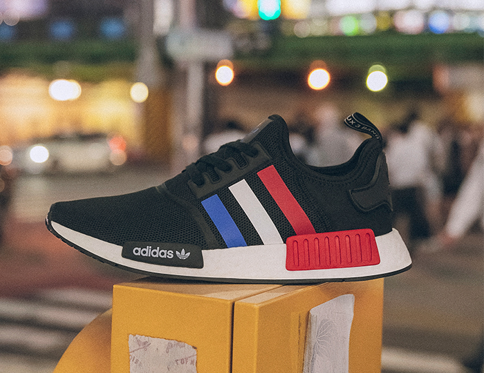 On Sale Adidas Nmd R1 Tokyo Tricolor Sneaker Shouts