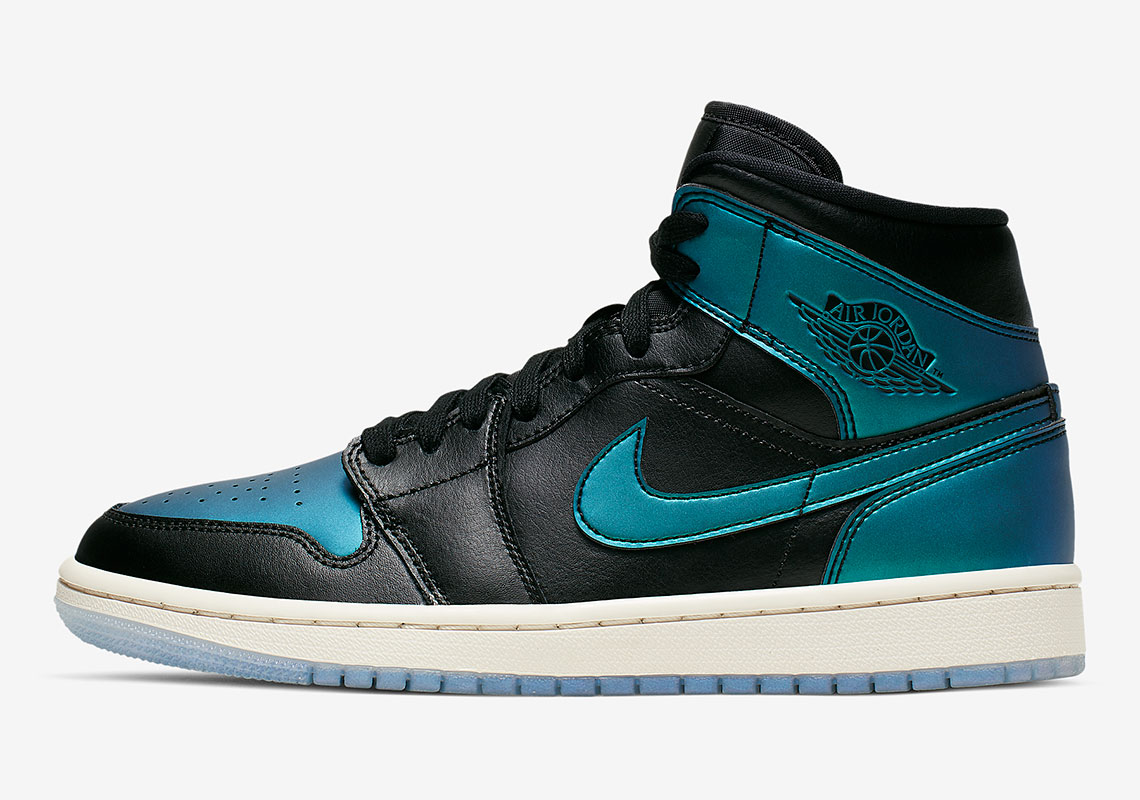 Now Available Women S Air Jordan 1 Mid Iridescent Sneaker Shouts