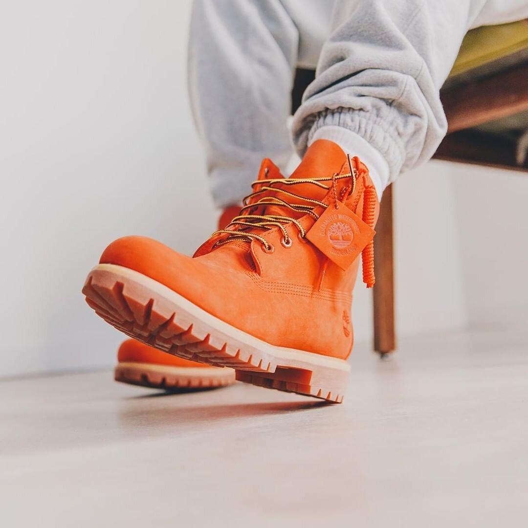 timberland orange