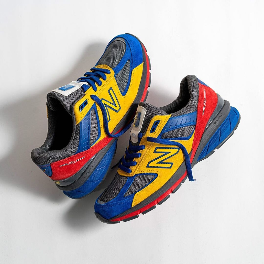 "Now Available: EAT x New Balance 990v5 ""Multicolor"""