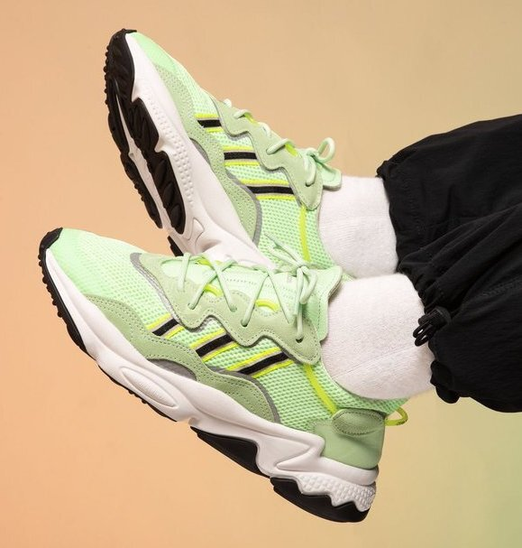 """adidas Ozweego OG """"Green Glow"""": Sale Price: $46.90 (Retail $110)  – FREE SHIPPING – use code:  – CYBER –  at checkout"""