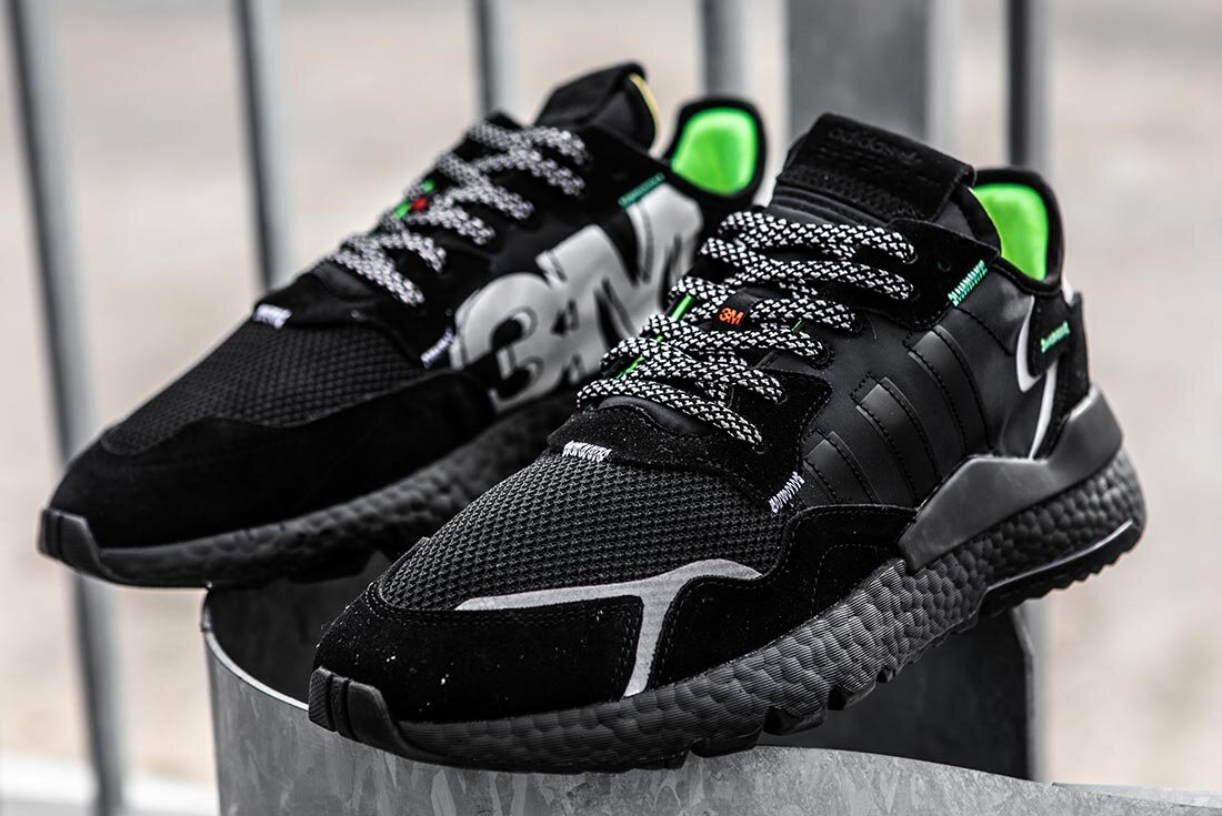 """adidas Nite Jogger 3M """"Triple Black"""": Sale Price: $49 (Retail $140)  – FREE SHIPPING  – use code:  – CYBER –  at checkout"""